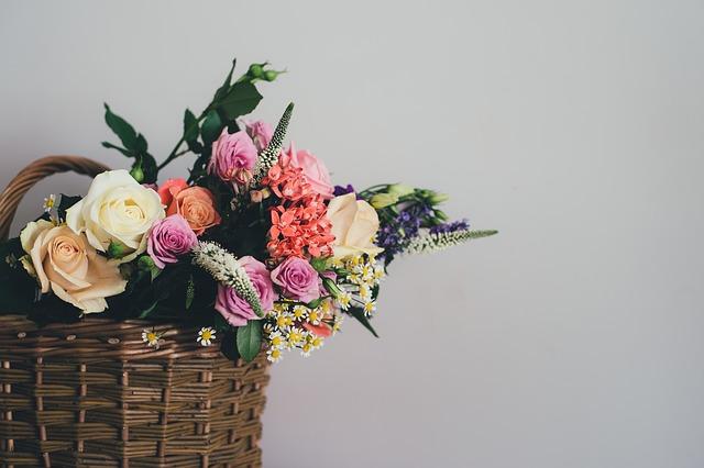 kytky v košíku