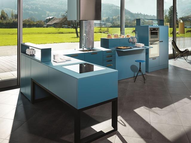moderní otevřená kuchyně
